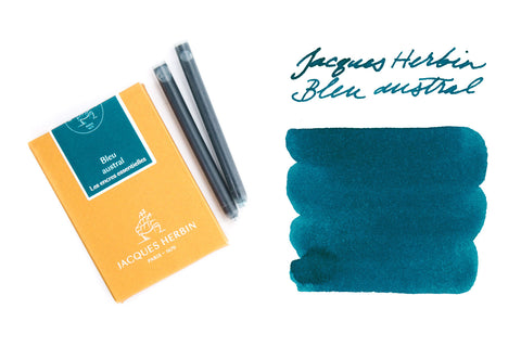 Jacques Herbin Bleu Austral - Ink Cartridges