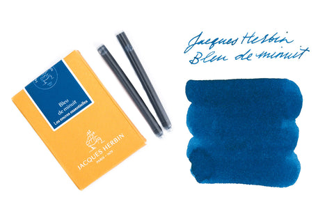 Jacques Herbin Bleu de Minuit - Ink Cartridges