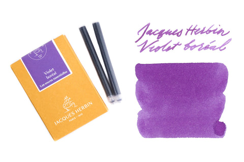 Jacques Herbin Violet Boréal - Ink Cartridges