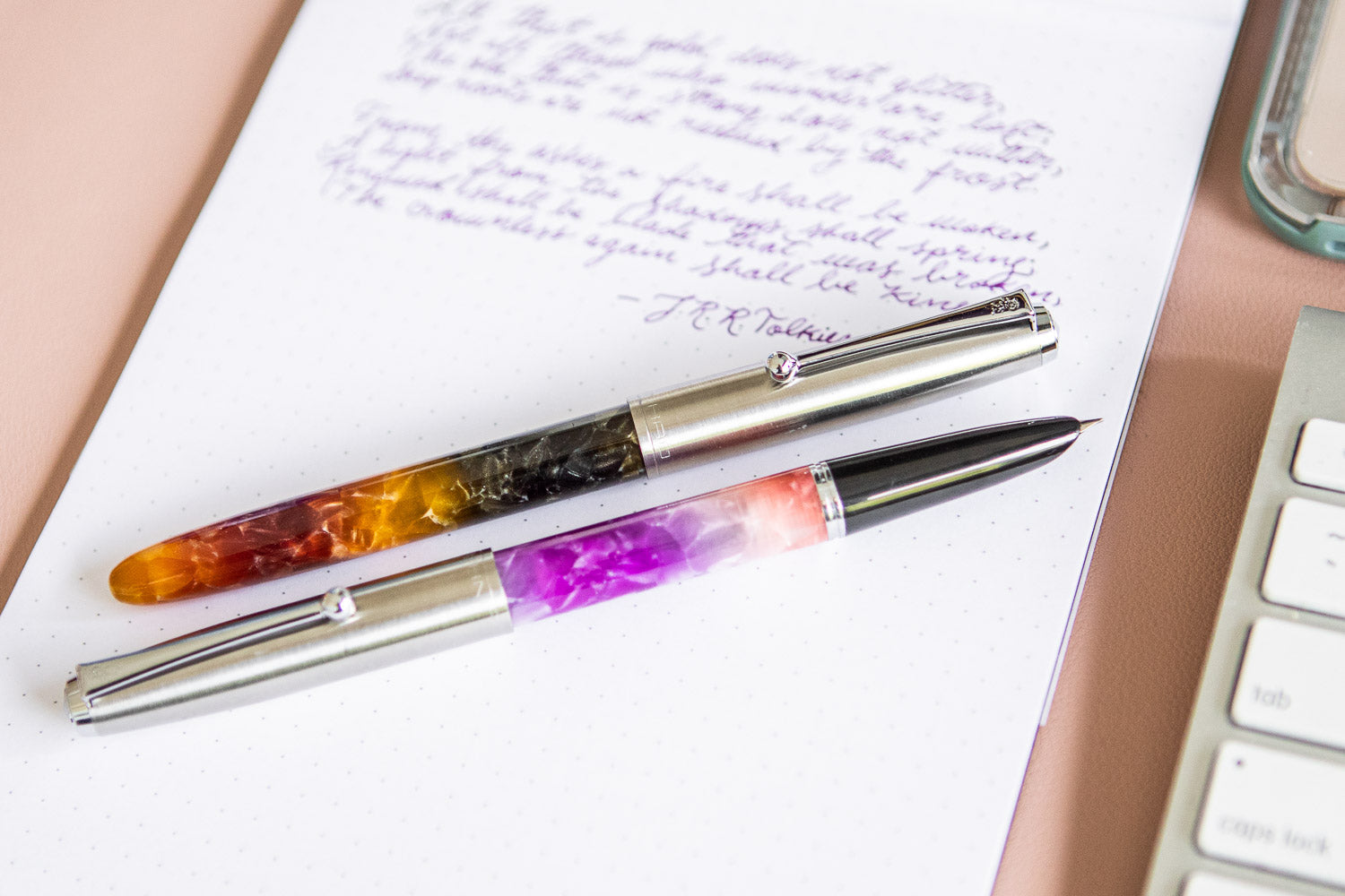 Jinhao 51A Ombré Fountain Pen - Amber/Black