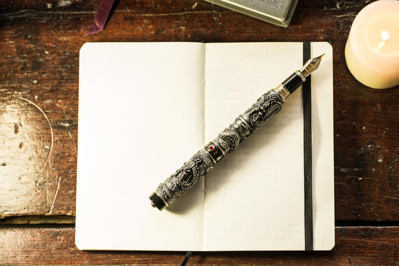 Jinhao 999 Dragon Fountain Pen - Black