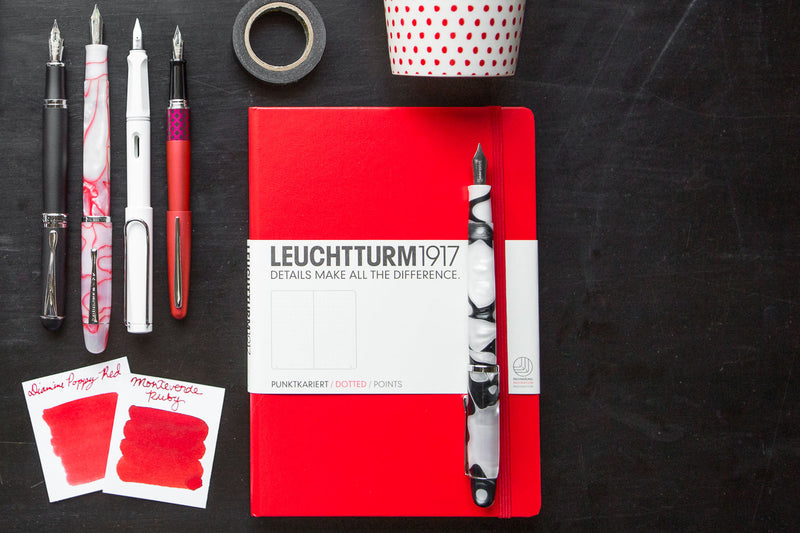 Leuchtturm1917 Medium A5 Notebook - Red, Dot Grid (5.71 x 8.27)