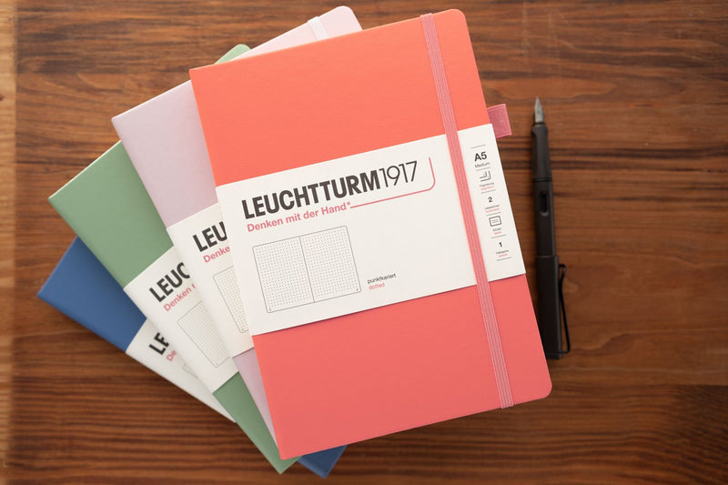 Leuchtturm1917 Medium A5 Notebook - Powder, Dot Grid