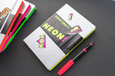 Leuchtturm1917 Medium A5 Notebook - Silver & Neon Yellow, Dot Grid (Limited Edition)