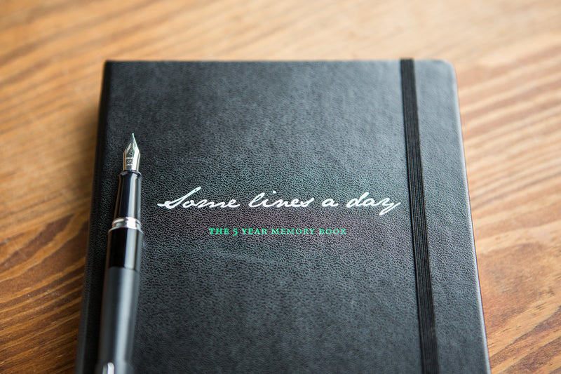 Leuchtturm1917 Some Lines a Day 5 Year Memory Notebook (A5) - Black