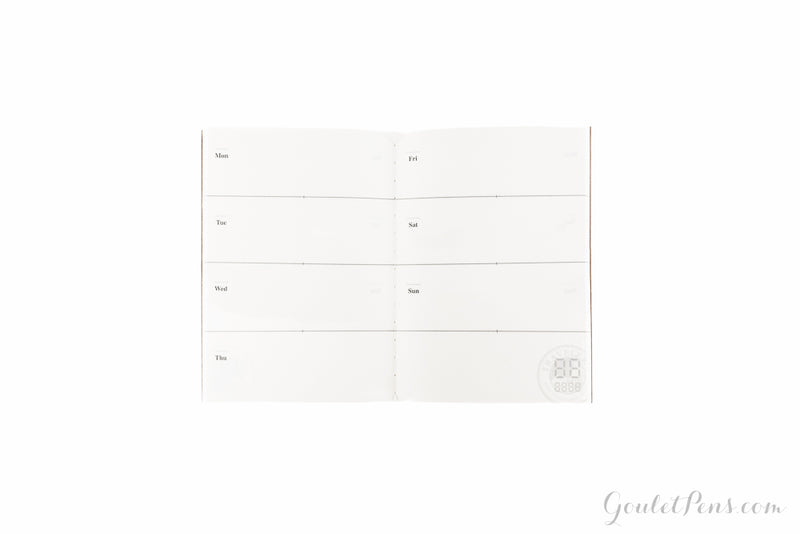 Traveler's Notebook Passport Refill 007 - Weekly Planner
