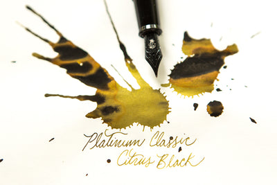 Platinum Classic Citrus Black - Ink Sample