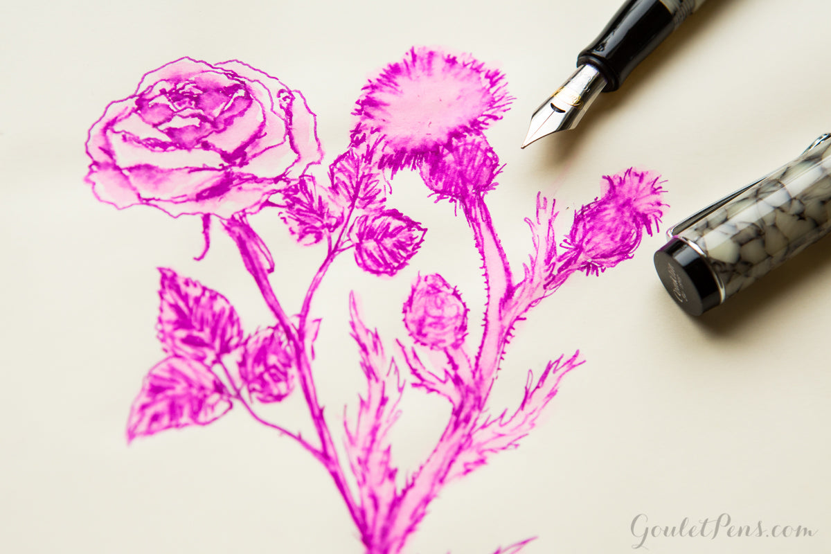 Herbin Rose Cyclamen - Ink Sample