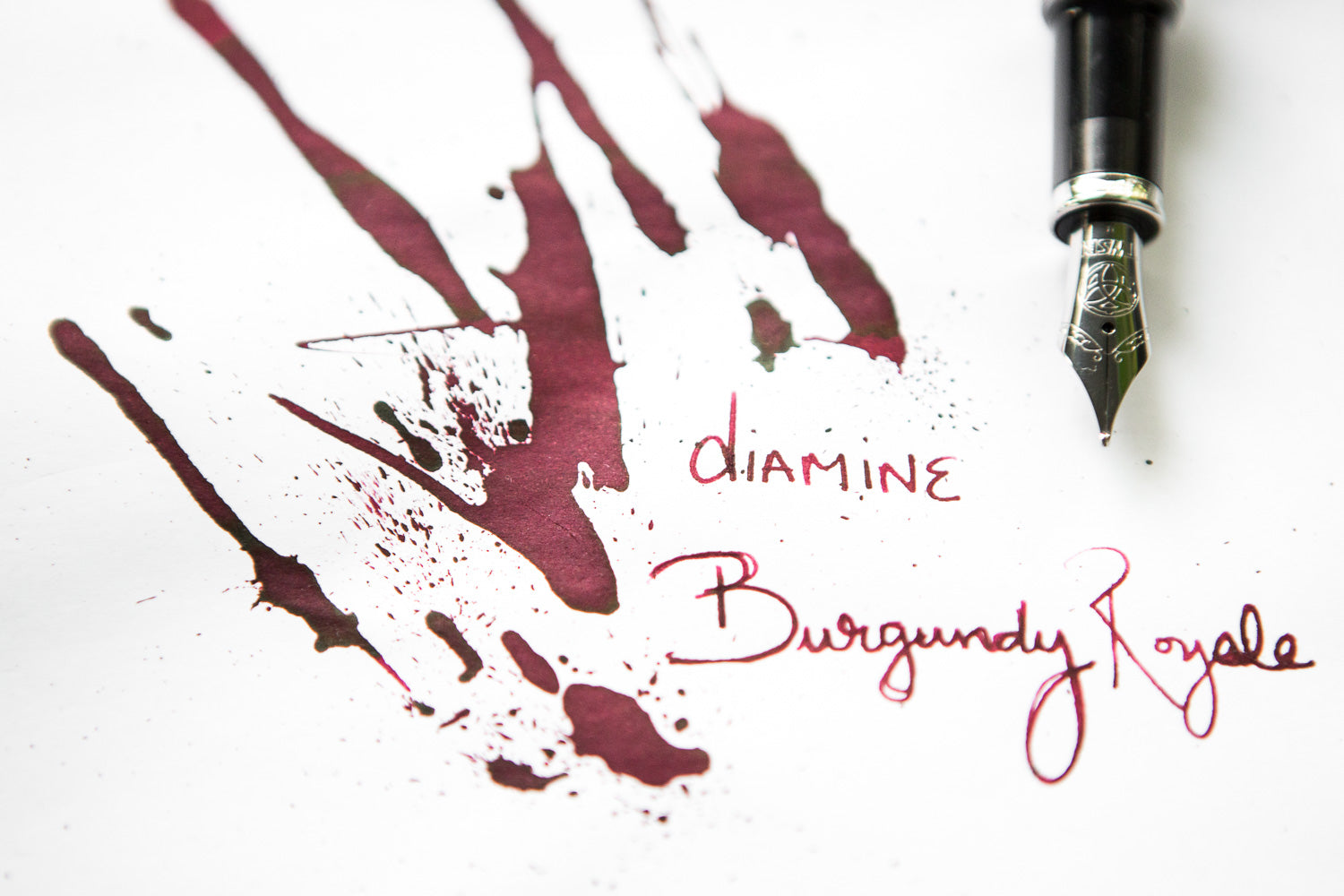 Diamine Burgundy Royale - Ink Sample