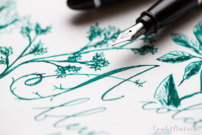 Visconti Green - Ink Sample