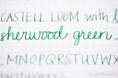 Diamine Sherwood Green - Ink Sample