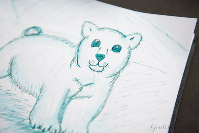 Noodler's Blue Nose Bear - Ink Sample
