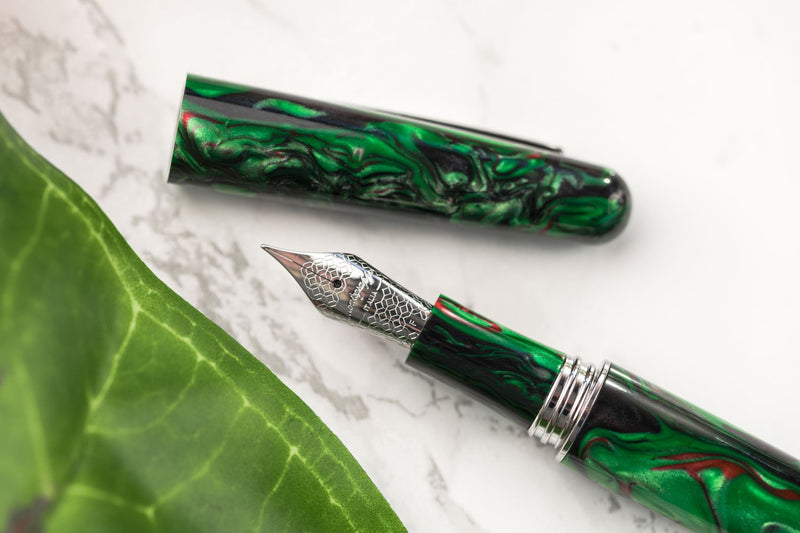 Montegrappa Elmo Fountain Pen - Black Star Calla Lily