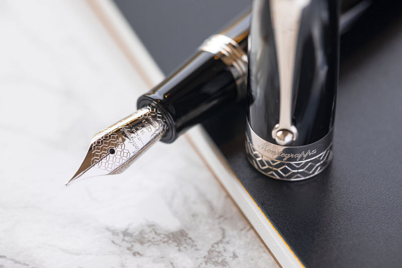 Montegrappa Miya 450 Fountain Pen - Black & White (Limited Edition)