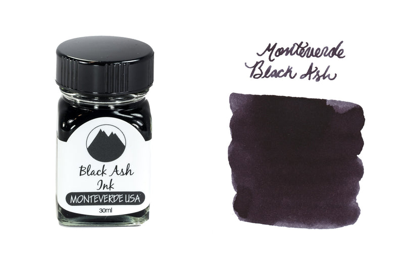 Monteverde Black Ash - 30ml Bottled Ink
