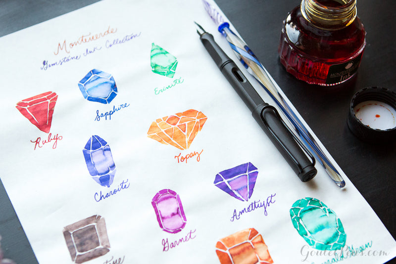 Monteverde Charoite - Ink Sample