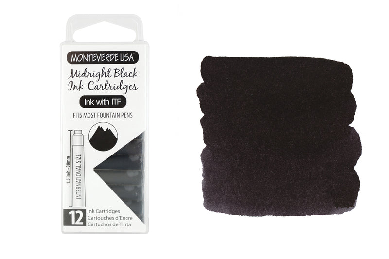 Monteverde Midnight Black - Ink Cartridges