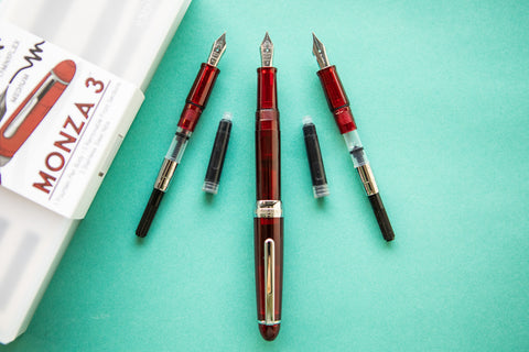 Monteverde Monza 3 Fountain Pen Gift Set - Red