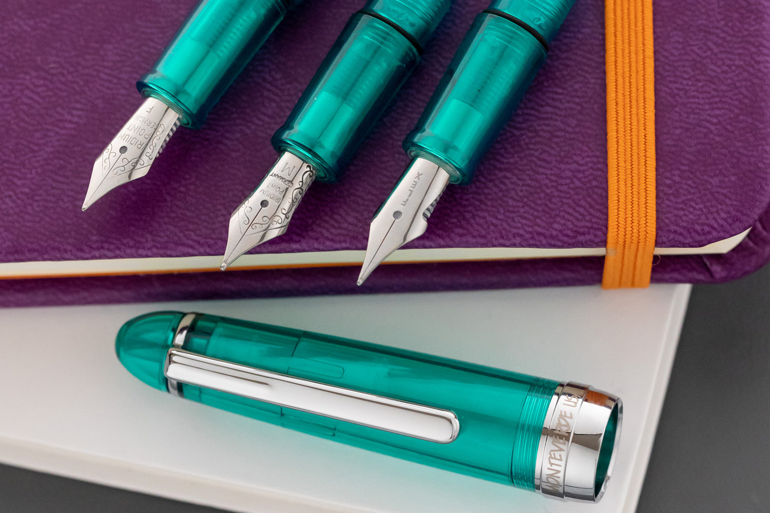 Monteverde Monza 3 Fountain Pen Gift Set - Crystal Clear