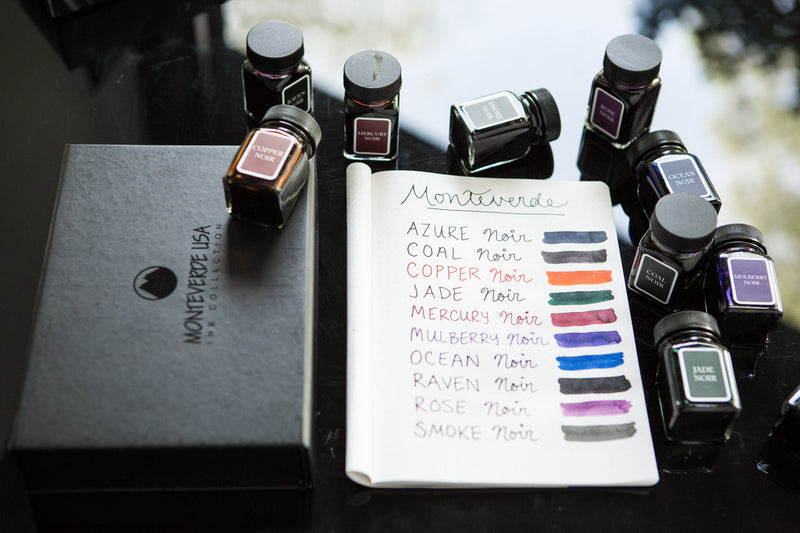 Monteverde Raven Noir - Ink Sample
