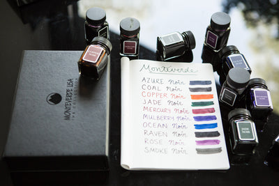 Monteverde Mulberry Noir - Ink Sample