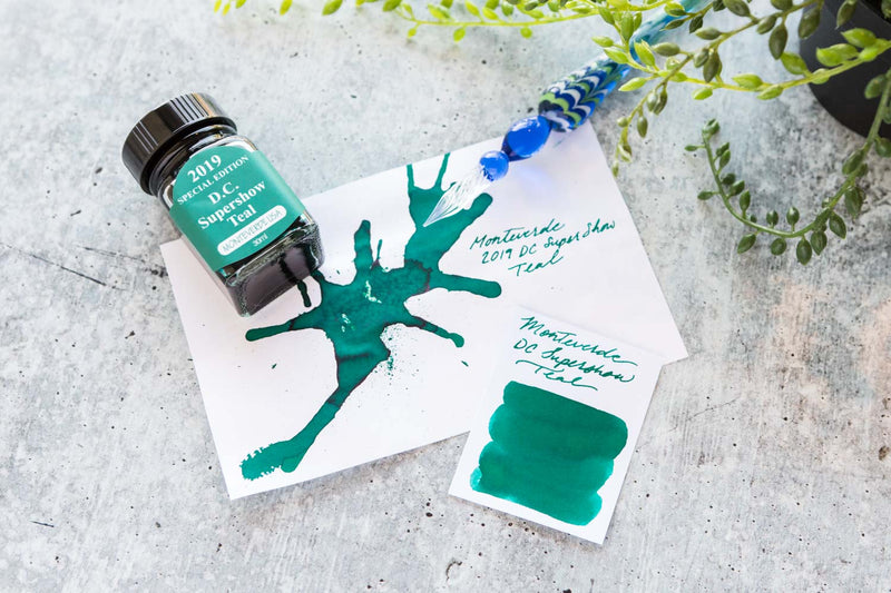 Monteverde DC Supershow Teal - Ink Sample