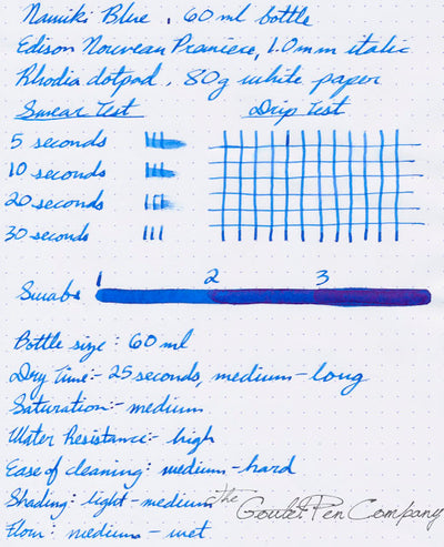 Pilot Namiki Blue - 60ml Bottled Ink