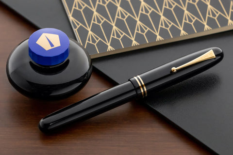 Namiki Emperor Urushi Fountain Pen - Black with Rings