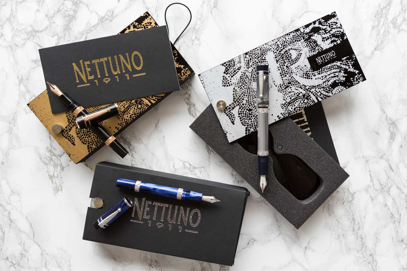 Nettuno 1911 Fountain Pen - Crono Rose Gold