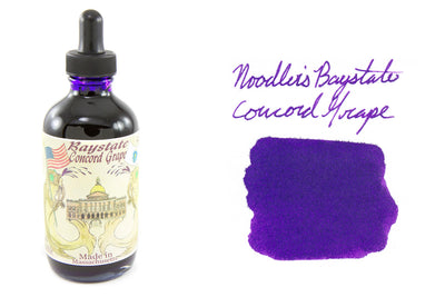 Noodler's Baystate Concord Grape - 4.5oz Bottled Ink with Free Charlie Pen