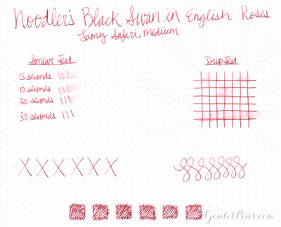 Noodler's Black Swan in English Roses - Ink Sample