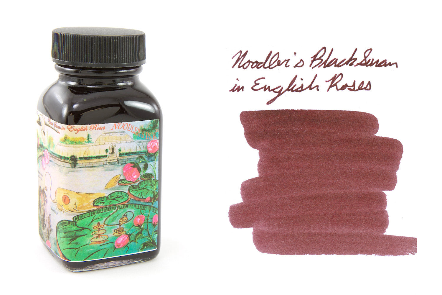 Noodler's Black Swan in English Roses - 3oz Bottled Ink