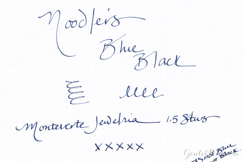 Noodler's Blue Black - Ink Sample
