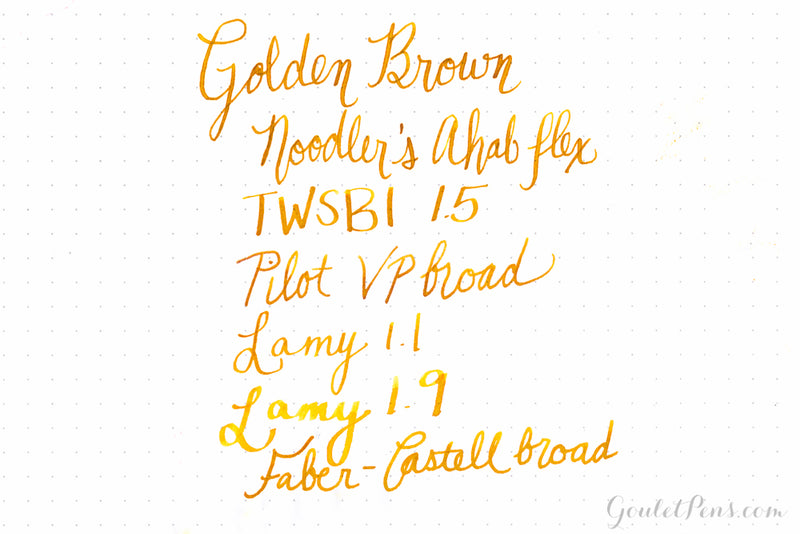 Noodler's Golden Brown - Ink Sample
