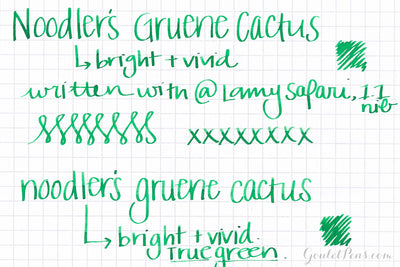 Noodler's Gruene Cactus - Ink Sample