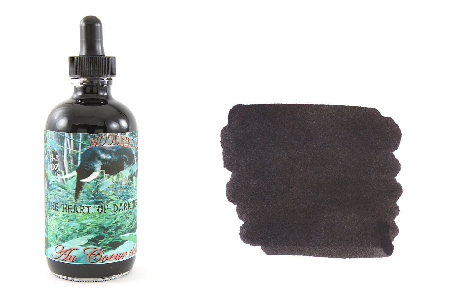 Noodler's Heart of Darkness - 4.5oz Bottled Ink with Free Charlie Pen