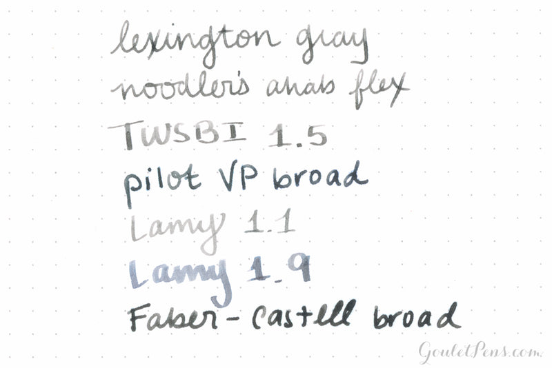 Noodler's Lexington Gray - Ink Sample
