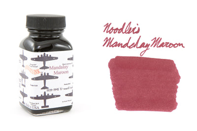Noodler's Mandalay Maroon - 3oz Bottled Ink