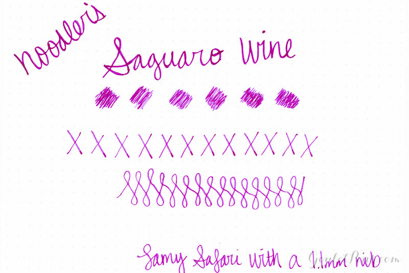 Noodler's Saguaro Wine - Ink Sample