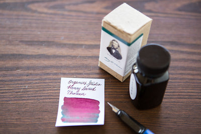 Organics Studio Henry David Thoreau Walden Pond - Ink Sample