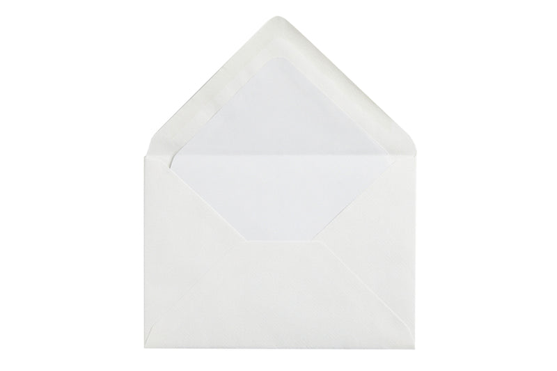 Original Crown Mill Classic Laid Small Envelopes - White