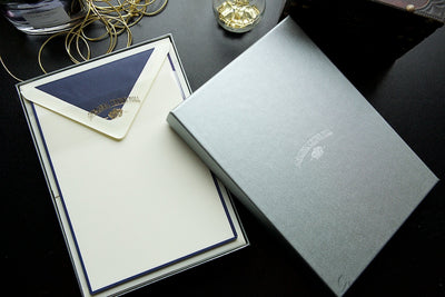 Original Crown Mill Bicolor A5 Correspondence Set - Cream/Navy