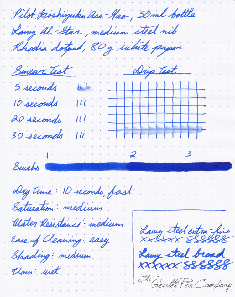 Pilot Iroshizuku Asa-gao - Ink Sample