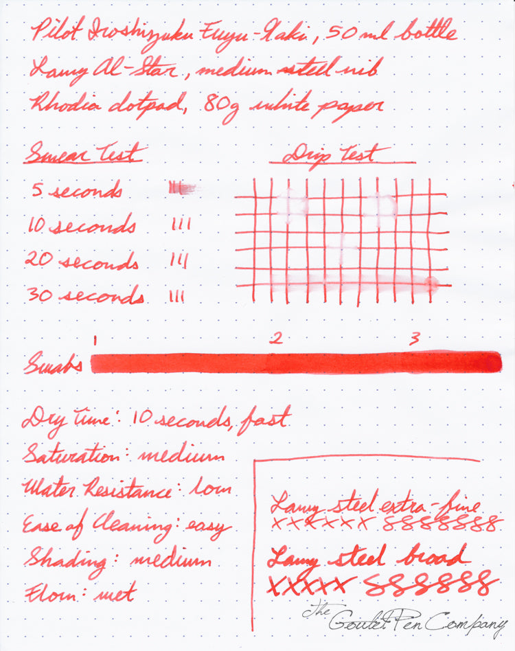 Pilot Iroshizuku Fuyu-gaki - Ink Sample