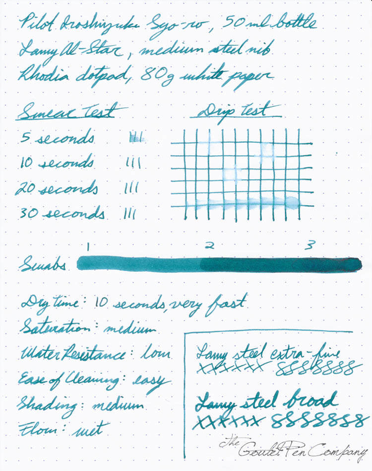 Pilot Iroshizuku Syo-ro - Ink Sample