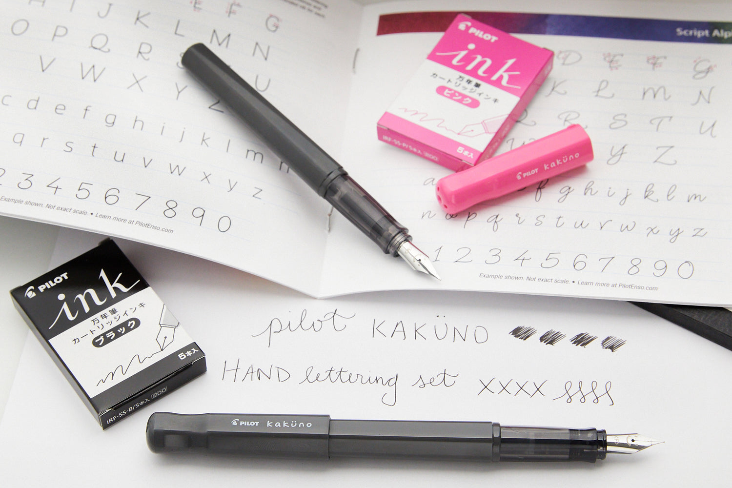 Pilot Kakuno Hand Lettering Fountain Pen Set - Cherry Blossom
