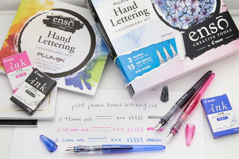 Pilot Plumix Hand Lettering Calligraphy Set - Hydrangea
