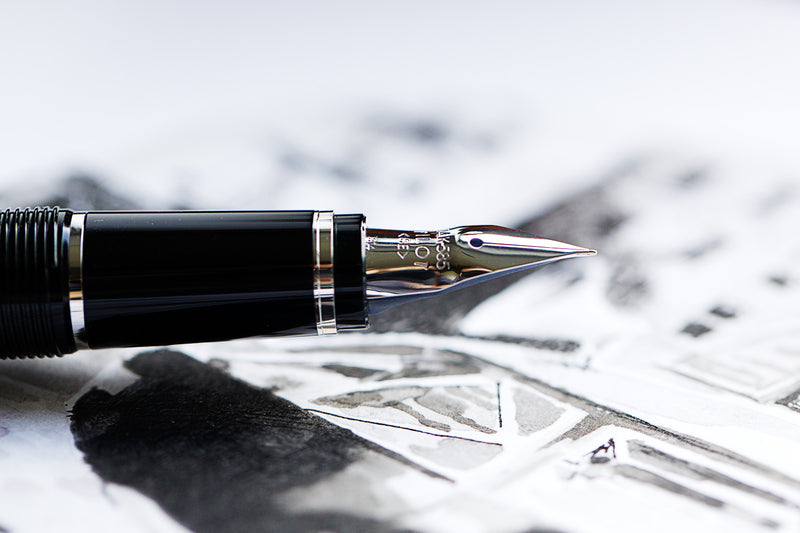 Pilot Falcon Fountain Pen - Black/Rhodium