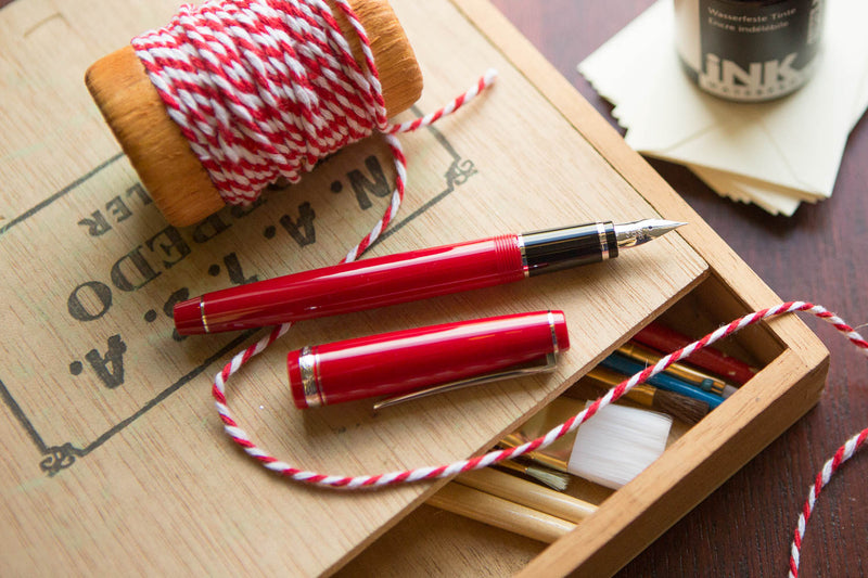 Pilot Falcon Fountain Pen - Red