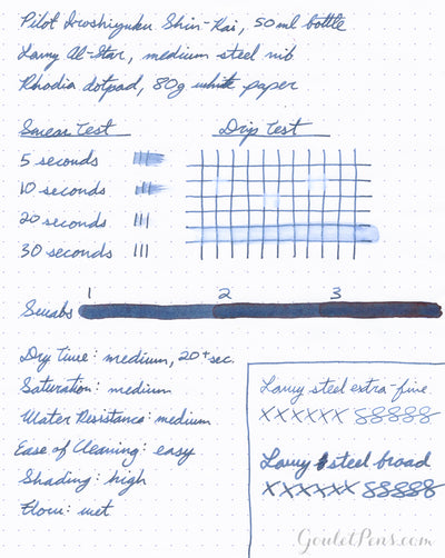 Pilot Iroshizuku Shin-kai - 50ml Bottled Ink